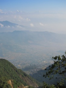 Kathmandu valley from close to Chitlang banjyang