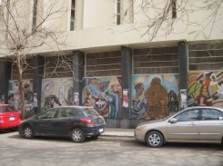 @Marjan Slaats: mosaics on the wall of Arts college in Zamalek