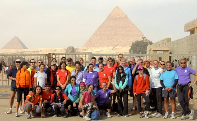 Maadi runners after their 22 February maiden half marathon training run to Giza