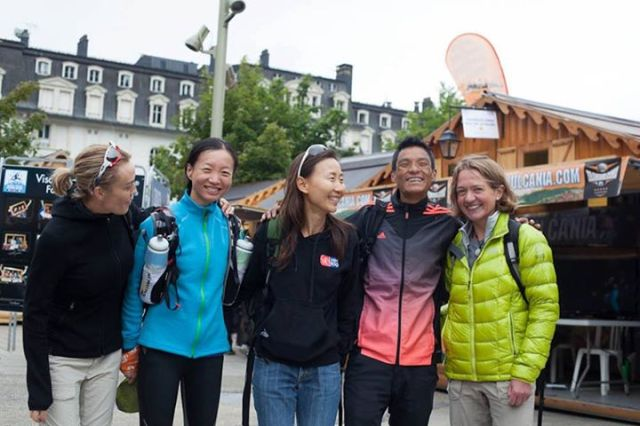 Aite Tamang with friends in Chamonix for the UTMB source: https://www.facebook.com/trailrunningnepal