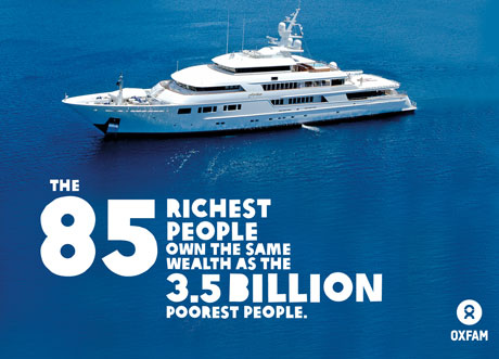 source: http://www.oxfam.org/en/pressroom/pressrelease/2014-01-20/rigged-rules-mean-economic-growth-increasingly-winner-takes-all-for-rich-elites