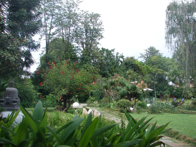 Garden of the Summit Hotel, Kupondole Height, Patan