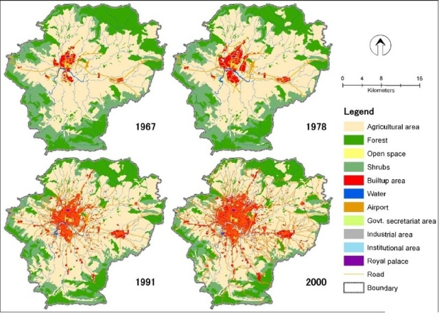 kathmandu valley land use changes. Source: http://www.academia.edu/login?cp=http%3A%2F%2Fwww.academia.edu%2F1858609%2FExamining_spatiotemporal_urbanization_patterns_in_Kathmandu_Valley_Nepal_Remote_sensing_and_spatial_metrics_approaches