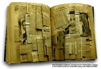 source: http://carla-wiechers.blogspot.com/2011/01/scrapbook-of-newspaper-clippings.html