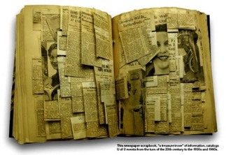 source: http://carla-wiechers.blogspot.com/2011/01/scrapbook-of-newspaper-clippings.html