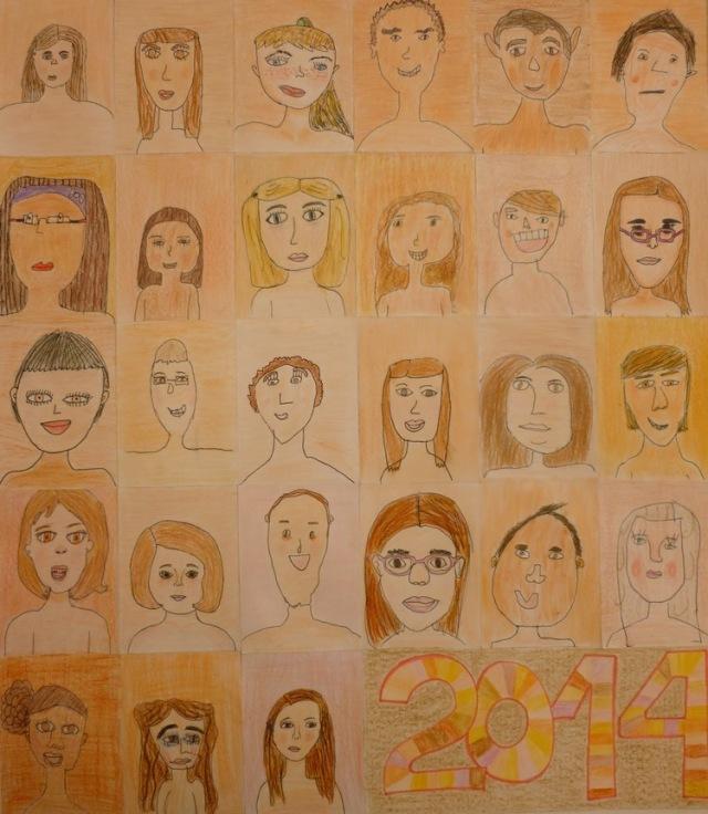 Humanae re-interpretado en clase por los alumnos de 4º de primaria del CEIP Ferrández Cruz en Elche (Alicante) , España.