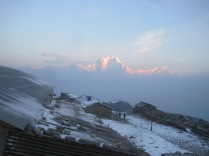 sunrise on Dhaulagiri from Khopra danda @ Roger Henke