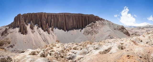 crazy formations and cliff dwellings above the town of Yara  @ Richard Bull