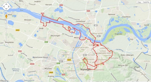 running/walking Nijmegen city and the floodplains to the West