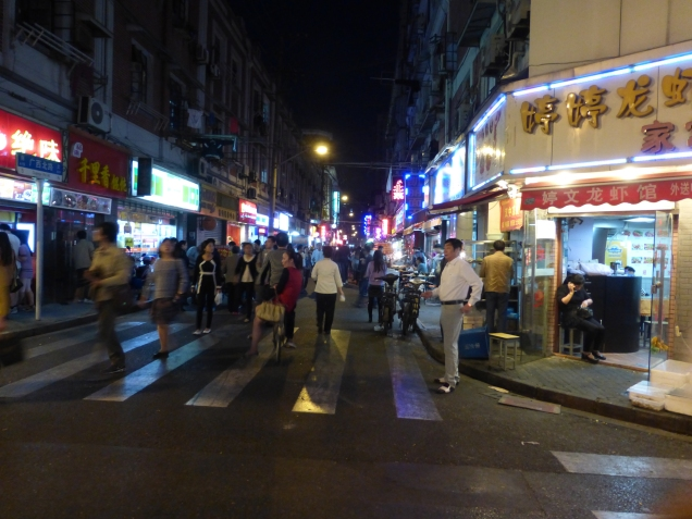 @ marjanslaats road going North from Nanjing East with local eateries