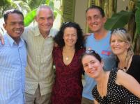 some original Phnom Penh runners reunited: Bunthoeun, Roger, Laura, Steve, Emily, and newbie Clem