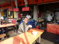 On the way to Longhua temple, eating my 8RMB lunch @marjanslaats